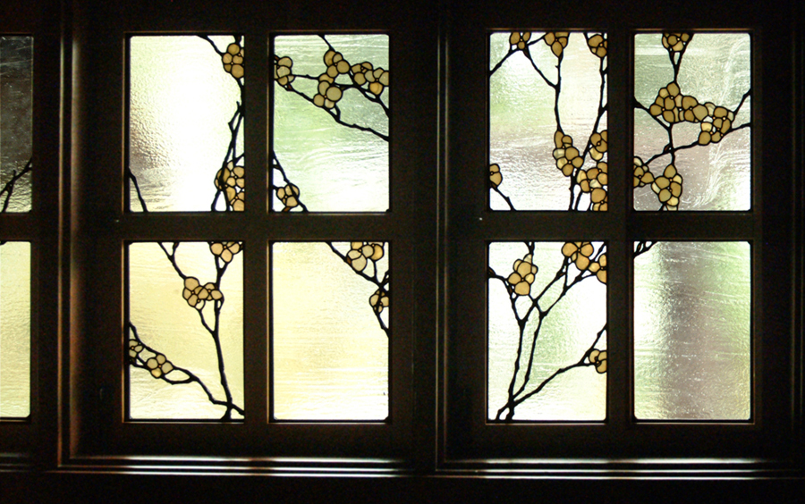 Music room window detail.
