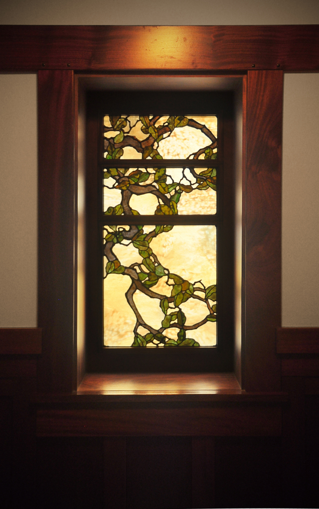 Secondary Oak tree window in entry.