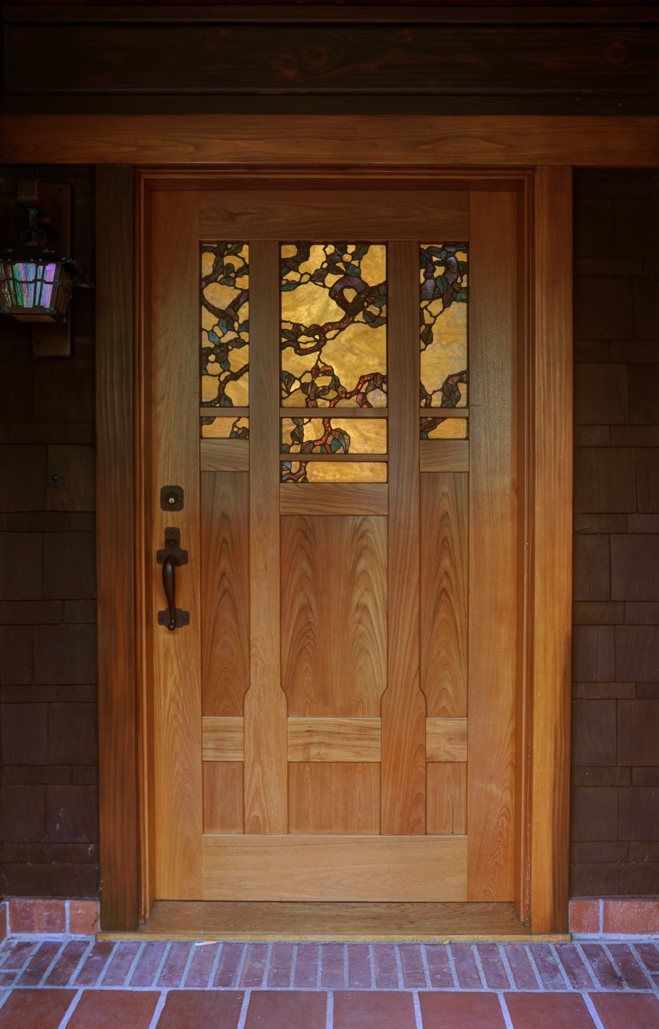 Front door Oak windows.