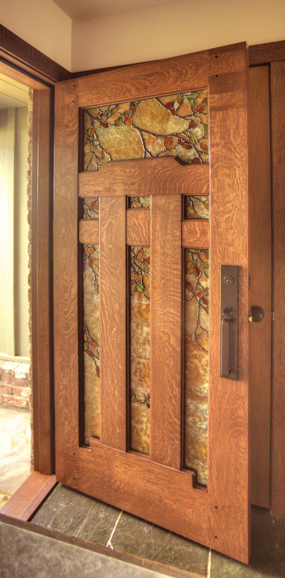 fall_leaf_door.jpg & Stained Glass: Entryways u2014 Theodore Ellison Designs