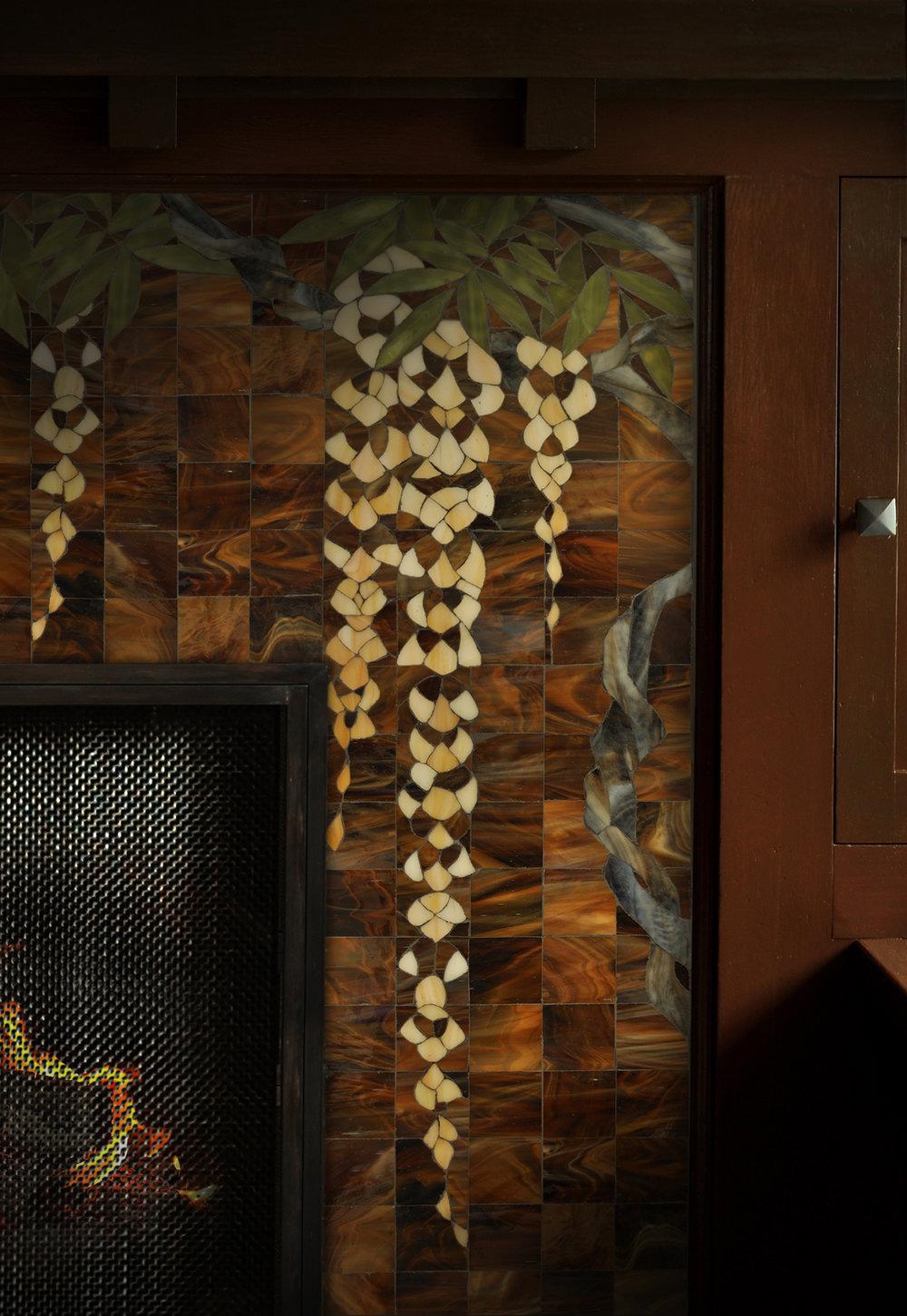 Theodore Ellison Wisteria  Custom Fireplace Mosaic.jpg