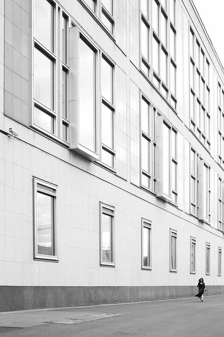 Arquitectura y personas en Berlín