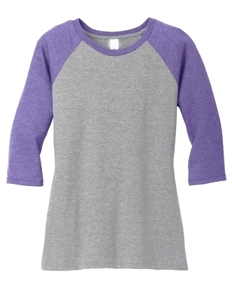 "Ladies Crew Neck 3/4"" Raglan Sleeve"