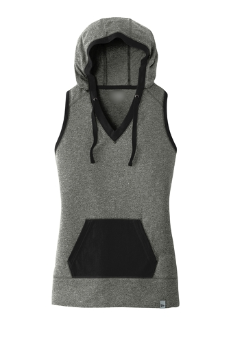 Ladies Hoodie Sleeveless with Kangaroo pocket
