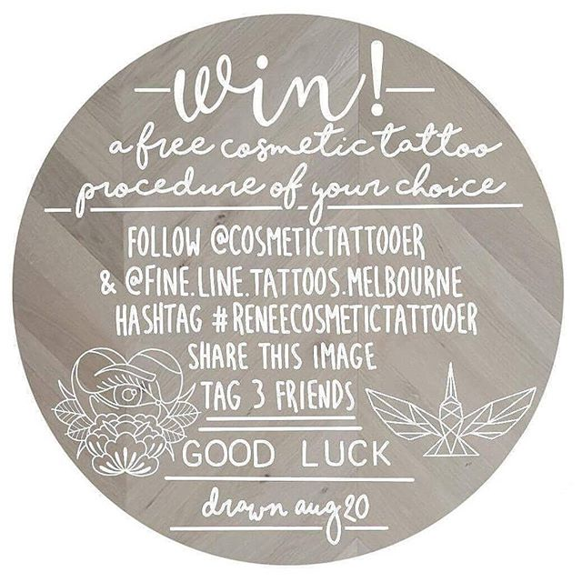 💮Its giveaway time! 💮Enter to win a free cosmetic tattoo procedure  of your choice at @fine.line.tattoos.melbourne 💮Valued at $550.00 💮Valid for 6 months 💮Includes touch up procedure 4 to 6 weeks after initial tattoo, & aftercare for both procedures. 💮Follow instructions in image to enter, good luck! Xx . . . #giveaway #freeby #cosmetictattoo #pmu #permanentmakeup #reneecosmetictattooer #cosmetics #beauty #beautiful #eyebrowtattoo #eyelinertattoo #liptattoo #girlswithtattoos #babeswithtattoos #ink #inkedup #melbourneink #richmond #melbourne #teamfineline #finelinetattoos