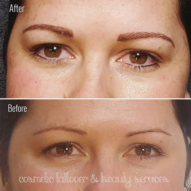 Feathertouch brow & full eyeliner tattooing #cosmetictattoo #permanentmakeup #pmu #reneecosmetictattooer #cosmetictattooer #feathertouchbrows #eyebrowtattoo #eyebrowtattooing #eyelinertattoo #eyelinertattooing