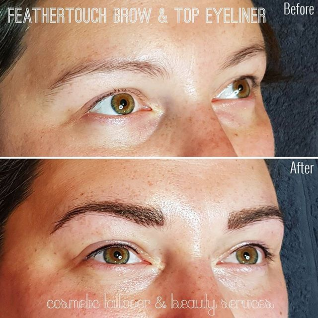 Beautiful Feathertouch Brow & Top Eyeliner Tattooing.  Email renee.checkley@gmail.com for bookings. . . . . #eyebrowtattooing #eyelinertattooing #feathertouchbrows #eyelinertattoo #eyebrowtattoo #brows #beautifulbrows #cosmetictattooer #melbourne #tattooing #girlswithtattoos #tattooedeyebrows