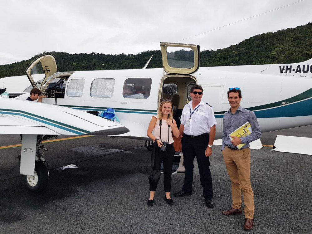Laurie Berrange and Alex Oppes – Social Ventures Australia on a investee visit.