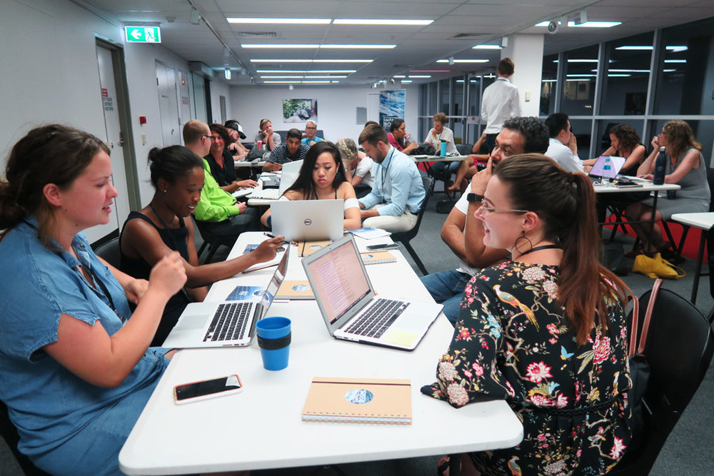 Elevate+  Accelerator participants working from Griffith University.