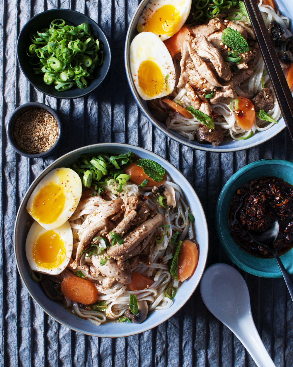 Chicken Noodle Broth — Hema Photography