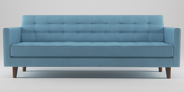 A client got in touch with me and asked if I could provide them with a 3D model of one of their sofa designs, texture and render it up for use on their website. This was 3DSMAX / Corona render
