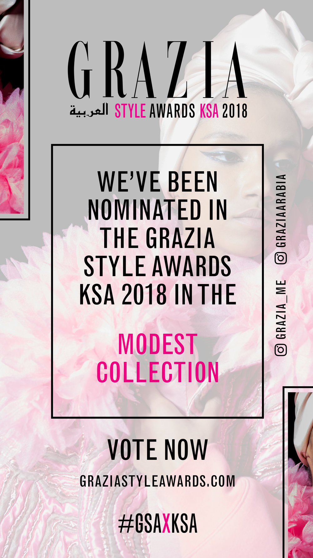 VOTE.. - UNDER-RÂPT TO WIN Grazia KSA MODEST style award !http://www.graziastyleawards.com/