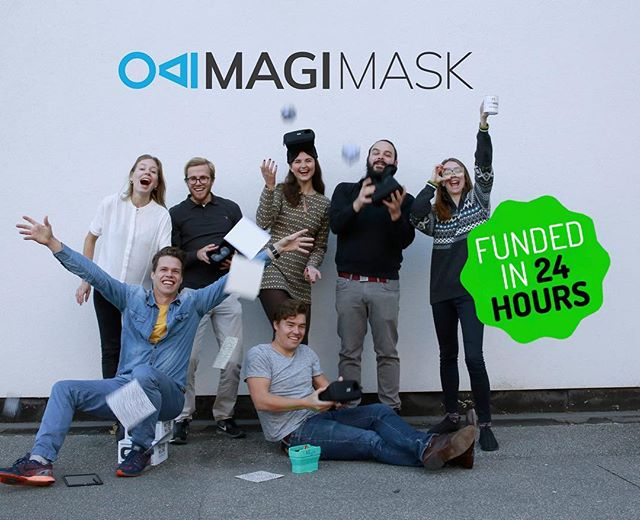 THANK YOU!🙏 100% funded in less than 24 hours! We are so grateful to all the backers who have supported us already and the people who are sharing our message 😍 We look forward to bringing you amazing AR experiences🦄🦄🦄 • • • #augmented #augmentedreality #vr #wikitude #unity #team #teamspirit #crowdfunding #kickstarter
