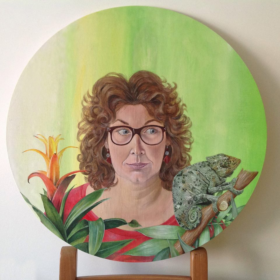 Self portrait, 2014, acrylic on canvas.