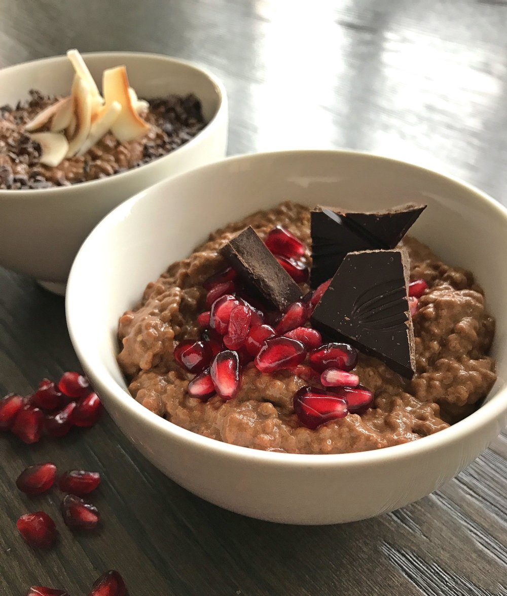 This Peppermint Mocha Chia Pudding is loaded with vitamins, minerals, antioxidants, healthy fats and fiber, and boosted with Nuzest pea protein.