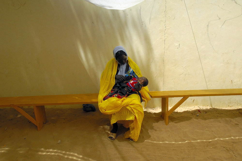 Medical center, refugee settled in Birak, Chad. Some refugees want to stay close to Sudan to go back to visit the land.