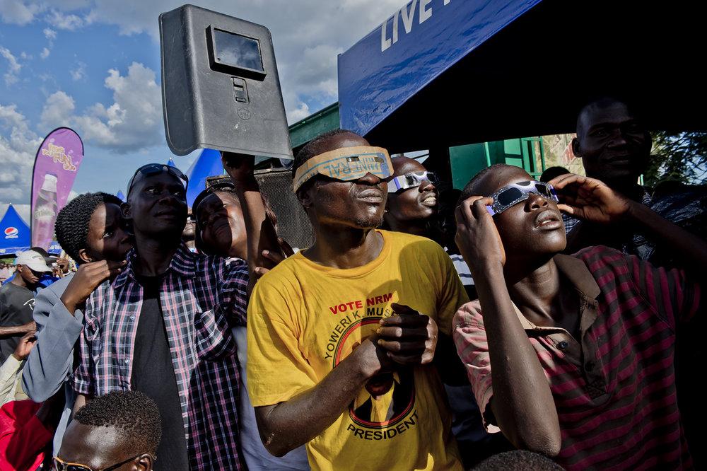 Total eclipse in Uganda, 2013