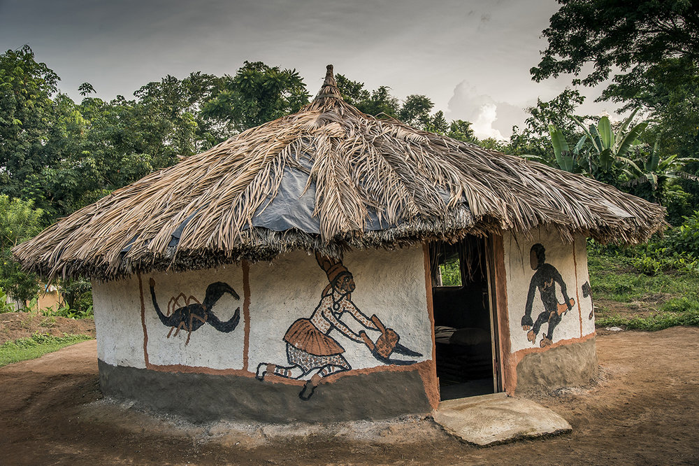 A guesthouse for tourists in the village of Gouleako, near the National Park of Taï. To limit poaching and agricultural encroachment on the forest, it is essential that the local populations are integrated into the economic scheme of eco-tourism.