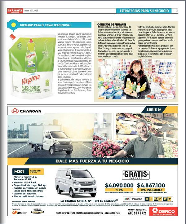 Virginia lavalozas reportaje en La Cuarta Comerciante1.png