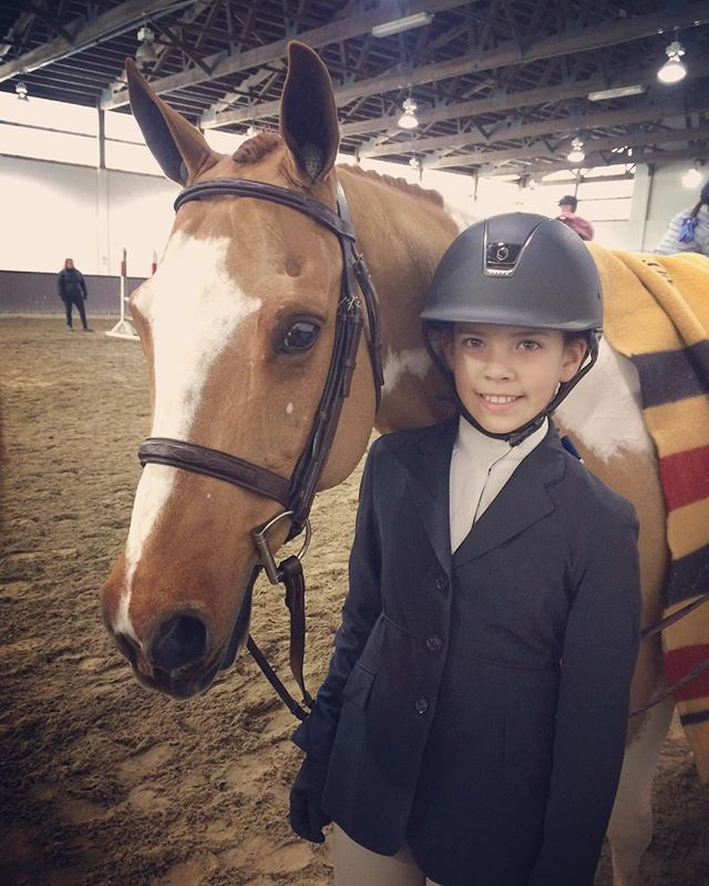 Great Expectations and Annabelle Besgen  had a great first show together at Old Salem, earning ribbons in the Large Children's Pony and the reserve championship in the Schooling Hunter #wintershows #iciclecircuit
