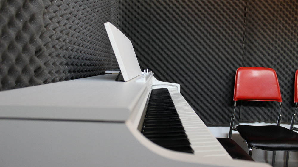 One of our Piano Tuition Rooms Fully Sound Treated