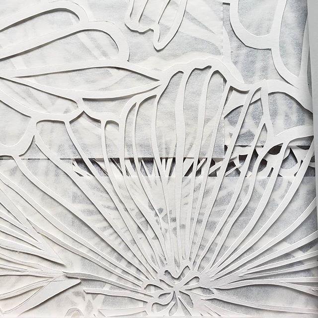 The texture. . . #handcutpaper #papercut #paperartist #nycartist