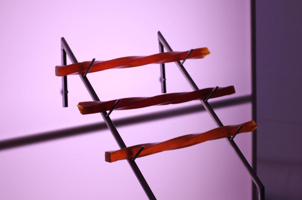 Emelie Carlen   Fail-fast systems   dimensions variable, cast wood sap, steel