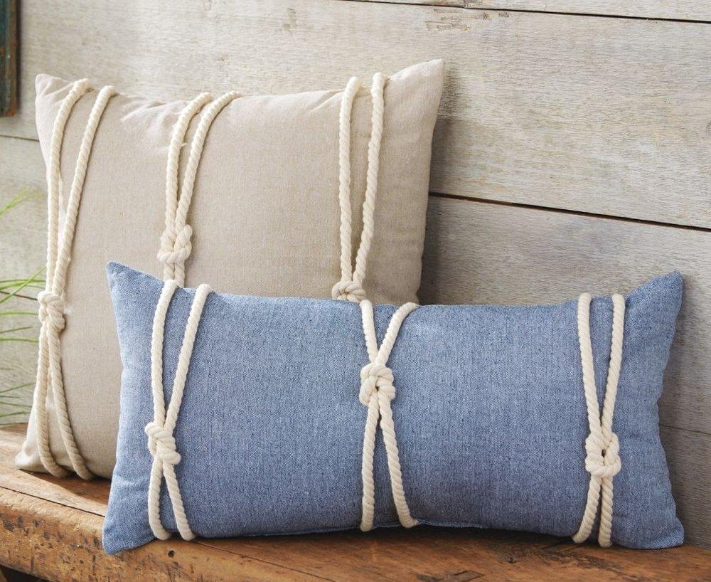 Nautical Knot Pillows