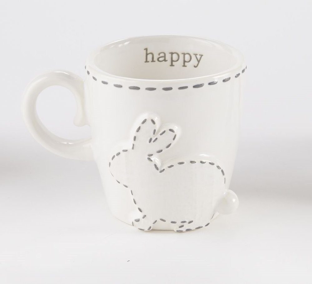 Topstiched Bunny Mugs