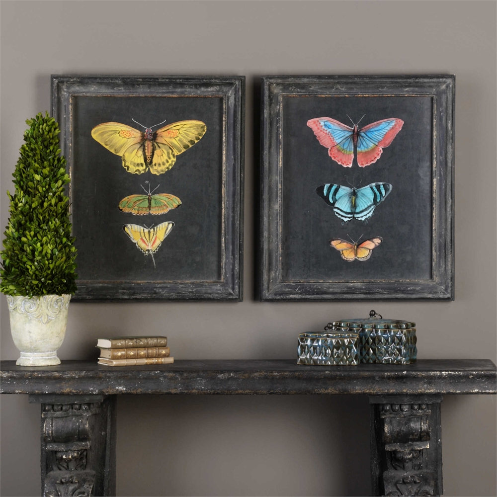 Butterflies on Slate Set/