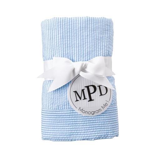 Blue Seersucker Blanket