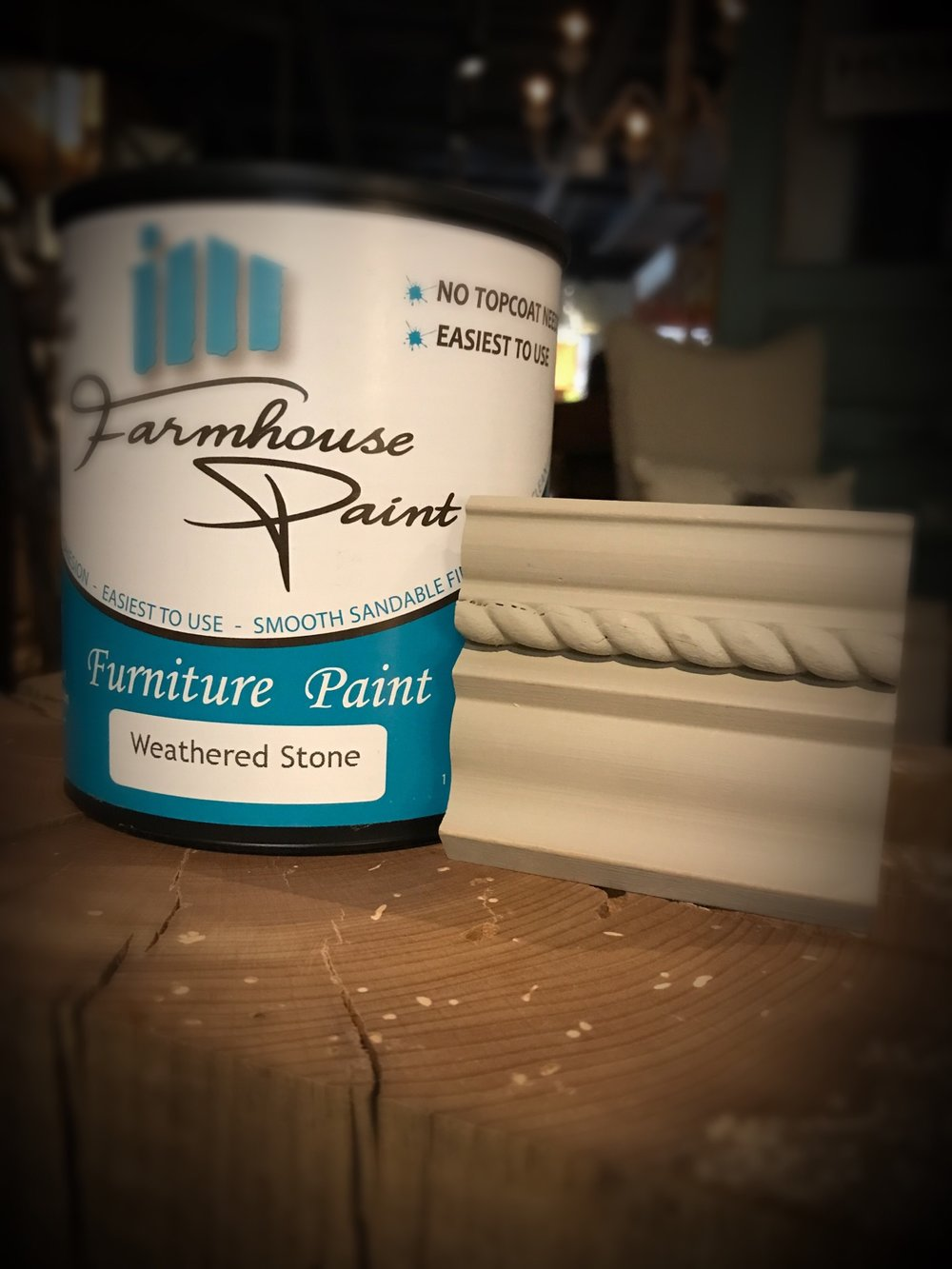 Weathered Stone 1 qt. Farmhouse Paint