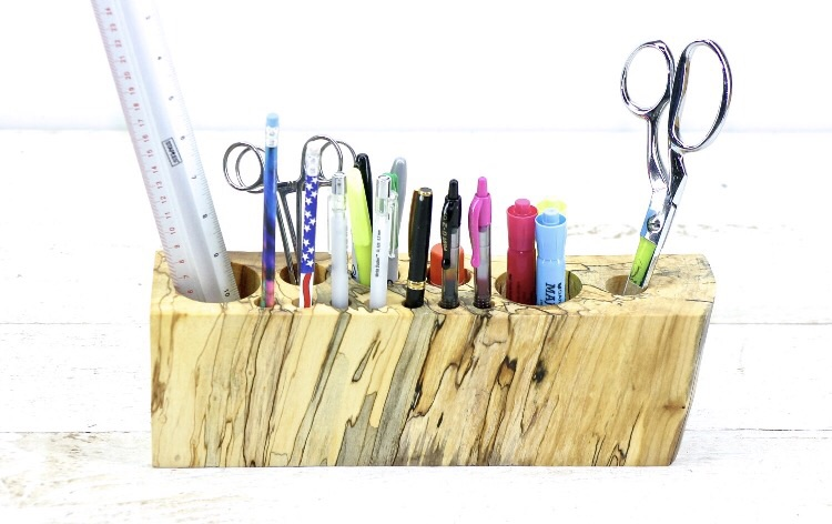 Wooden Office Caddy