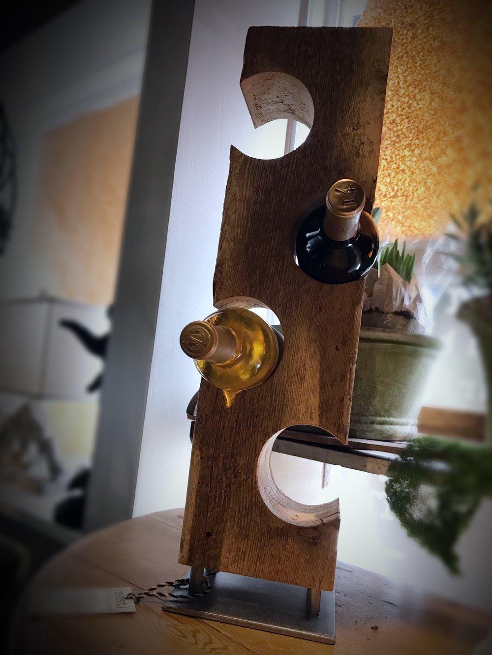Barnwood Flattop Wine Rack
