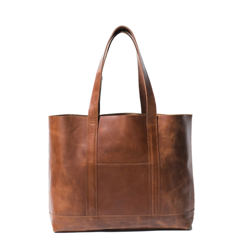Addis Leather Tote - LG-Cognac