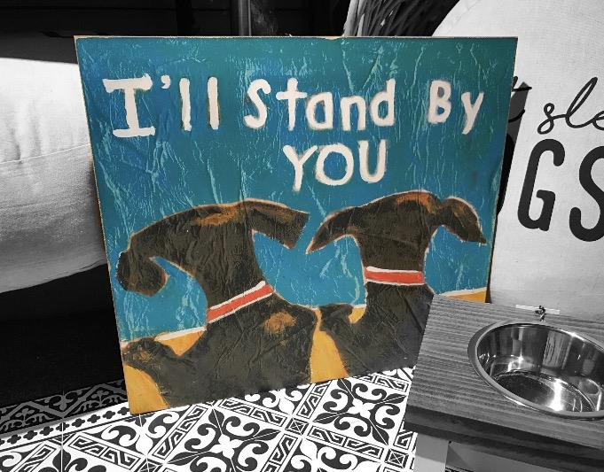 Dynamic Doggy Duo: I'll Stand By You Painting