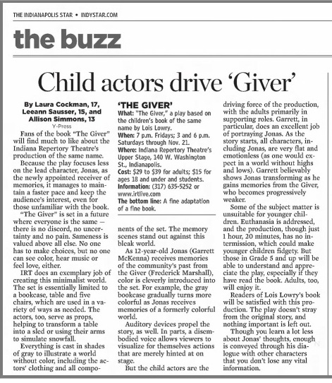Giver play review 2009.jpg