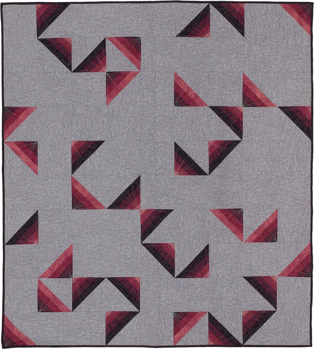 "Modern Quilts from Traditional Blocks Blog Post from KayLynn Design. ""Foundations"" from the book, Amish Shadows, Light. Reflected Designed & Made by Kathryn Greenwold & Lynn Reynolds Makrin"
