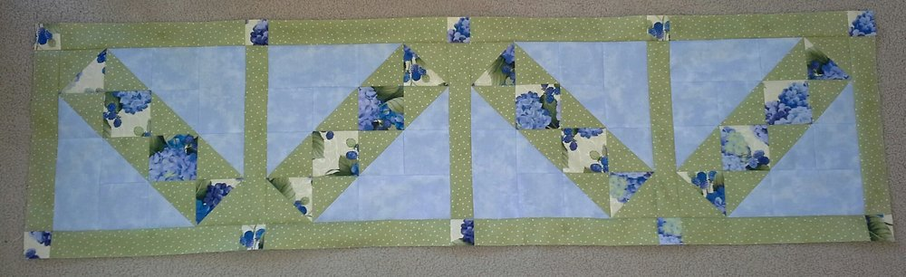 A row from the Mystery Quilt assembled from Lynn Makrin.