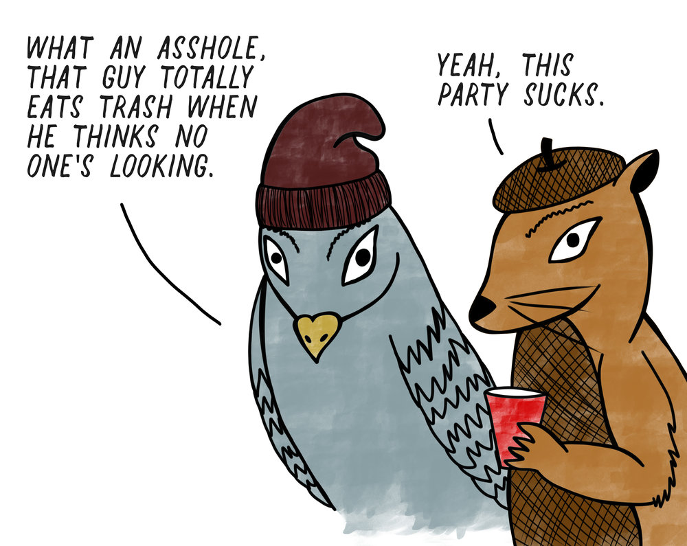 Squirrel + Pigeon