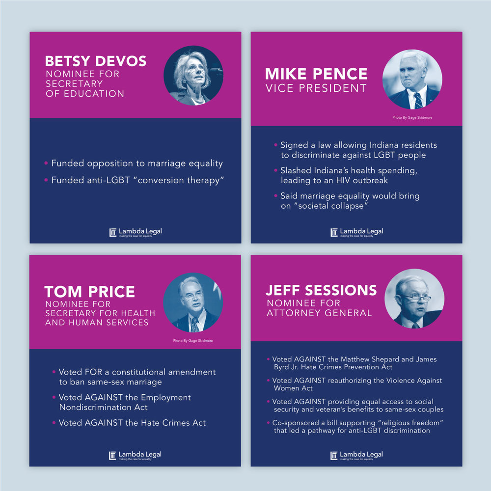 Post-election social graphic for Lambda Legal (sorry Dr. King that you have to sit next to these demons)