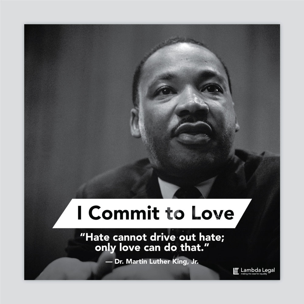 Martin Luther King Day social graphic for Lambda Legal