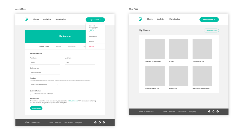 page layouts for design system