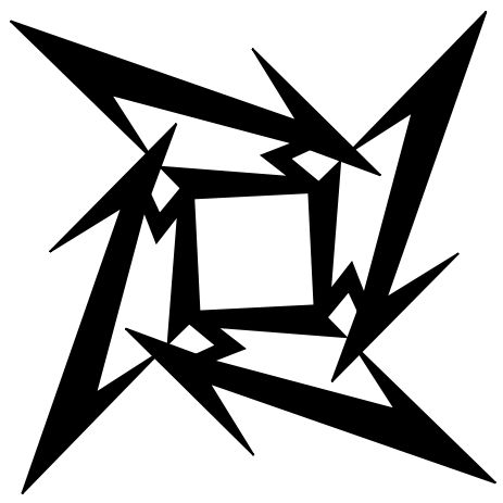 Star turn: James Hetfield's mutant ninja logo