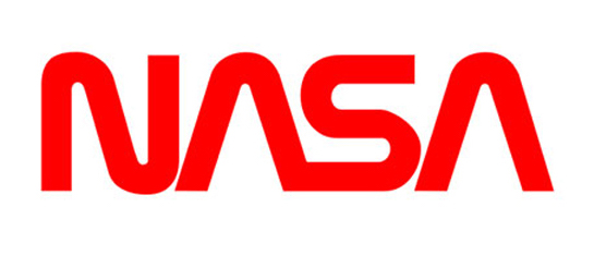 Space face: Richard Danne and Bruce Blackburn's 1975 logo design for NASA, familiarly known as 'The Worm'.
