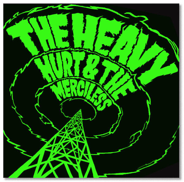 Hurts so good: The Heavy's latest record features more comic-style hand rendered type by James Taylor.