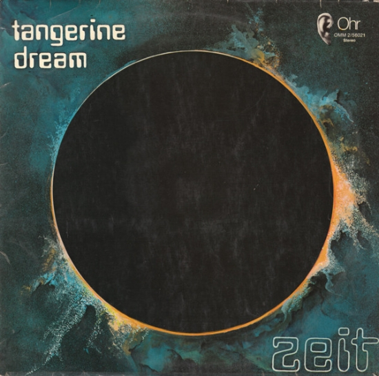 Otta zeit: considered to be Tangerine Dream's most difficult work, 'Zeit' (1972) is a brooding, dark and ambient double album about the origins of the universe. The cover art is credited to 'Edgar with Monique Froese'.