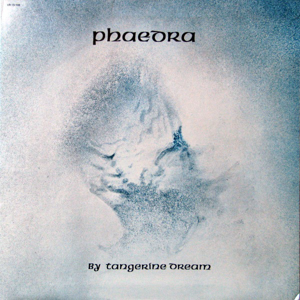 Snow business: 1974's 'Phaedra' used the American Unical typeface, a hybrid of roman and blackletter, along with a mysterious painting by the band's Edgar Froese.