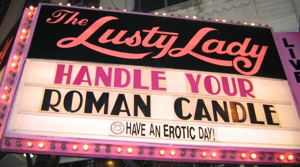 Sneaky peep: known for its amusing marquee announcements, The Lusty Lady sat directly opposite the Seattle Art Museum until it closed down in 2010.