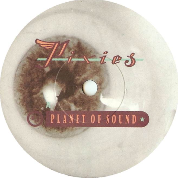 Eye, eye: the A-side of Pixies' 'Planet of Sound', single released in May 1991 on 4AD.